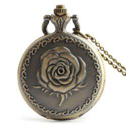 Rose Engraved Vintage Analog Pocket Watch