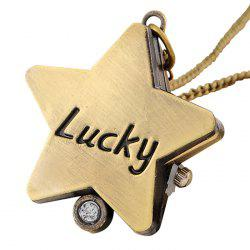 Lucky Star Vintage Analog Pocket Watch