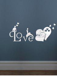 Love Heart Living Room Decoration 3D Mirror Wall Sticker