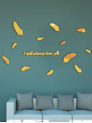 I will always love you 3D Acrylic Feather DIY Mirror Wall Stickers