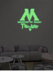 Environmentally Friendly Toilet Noctilucent Wall Sticker Custom