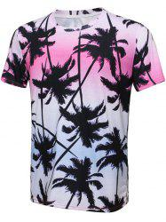 Ombre Coconut Tree 3D Print T-Shirt