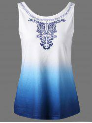 Graphic Ombre Sleeveless T-Shirt