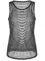 Cut Out Distressed Racerback Tank