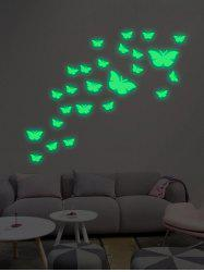 25Pcs/Set Butterflies Luminous Art Stickers For Wall