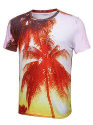 3D Print Coconut Tree Short Sleeve T-Shirt