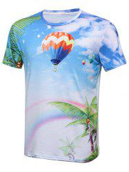 Hot Air Balloon Palm Tree 3D Print T-Shirt