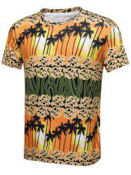 Sunset Palm Tree Print Short Sleeve T-Shirt