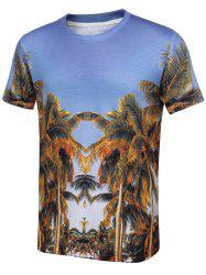 Short Sleeve T-Shirt with Palm Tree Print
