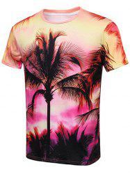 The Setting Sun Palm Tree Print T-Shirt