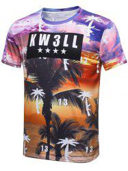 Graphic Coconut Tree Print T-Shirt