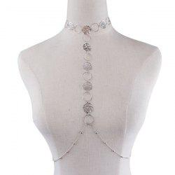 Flower Rose Body Chain - SILVER