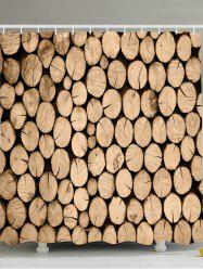 Wood Printed Shower Curtain with Hooks