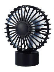 Portable Mini Cooler Super Mute Desk Fan - BLACK