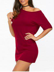 Short Sleeve Casual Tee Dress With Sleeves
