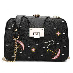 Umbrella Embroidery Chain Crossbody Bag
