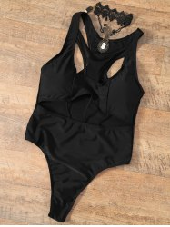 Cut Out One Piece Racerback Swimwear