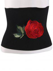 Chinoiserie Flower Embroidered Extra Wide Corset Belt