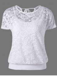 Lace Tie Back Blouse with Camisole