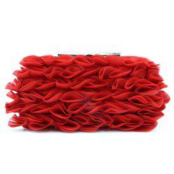 Ruffles Satin Evening Clutch Bag