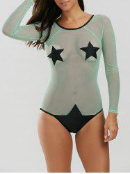 See Through Mesh Star Swimwear