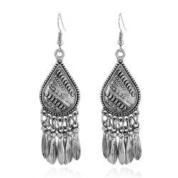 Teardrop Alloy Earrings