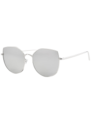 Anti UV Mirrored Cat Eye Shape Sunglasses