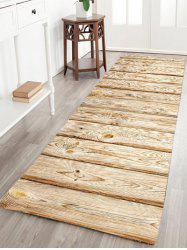 Wood Grain Flannel Antislip Bath Rug - LIGHT BROWN