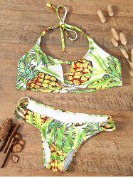 Halter Strappy Pineapple Bikini