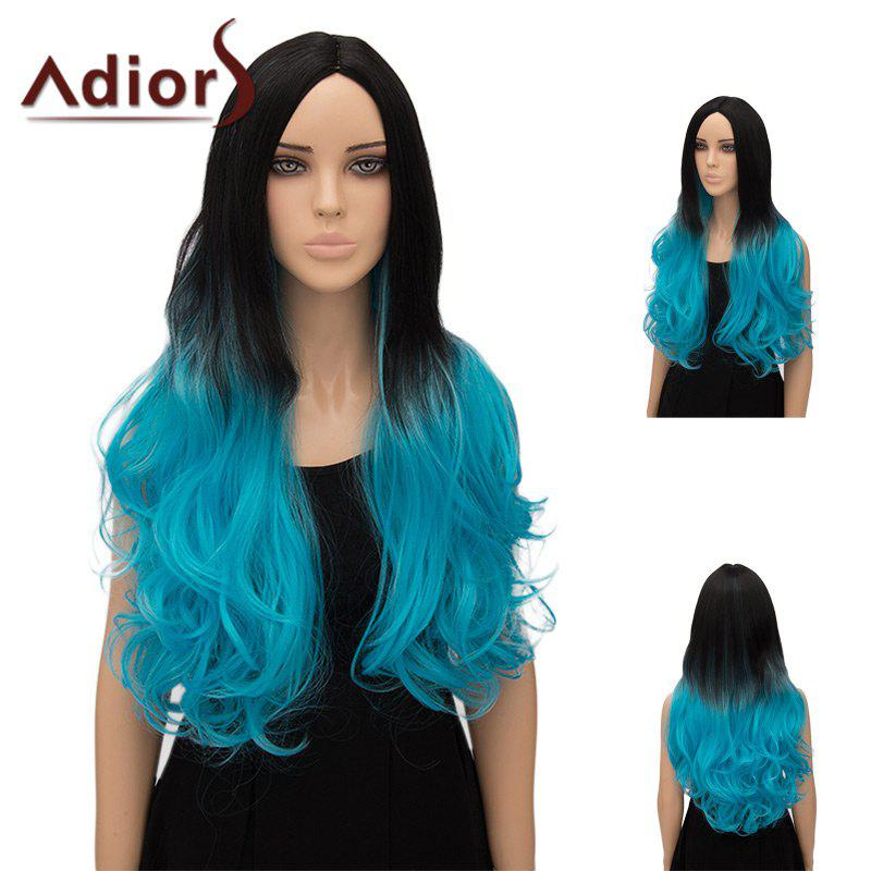 Unique Adiors Ultra Long Center Part Wavy Ombre Cosplay Synthetic Wig
