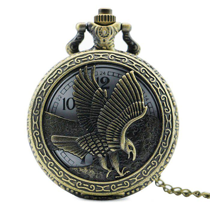 Eagle Engraved Number Vintage Pocket WatchJEWELRY<br><br>Color: COPPER COLOR; Gender: For Unisex; Style: Formal; Type: Pocket watch; Index Dial: Analog; Case material: Alloy; Band material: Alloys; Movement: Quartz; Dial Shape: Round; Water-Proof: No; Case Thickness(MM): 15mm; Dial Diameter: 4.8cm; Band Length(CM): 80cm; Package Contents: 1 x Watch;