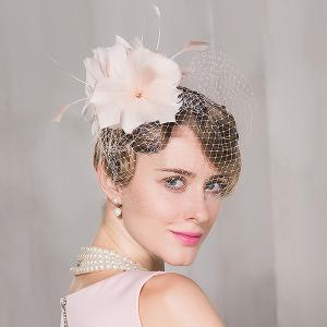 Veil Mesh Floral Fancy Feather Cocktail Hat