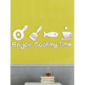 Cabinet Dining Room Metope Adornment Kitchen Mirror Logo Wall Decals
