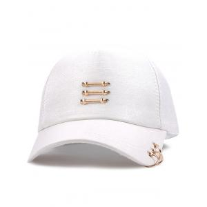 Metallic Circle Ring Stick Baseball Cap