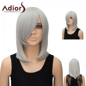 Adiors Medium Side Bang Straight Tail Adduction Anime Wig