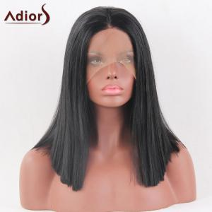 Adiors Medium Middle Part Straight Bob Lace Front Synthetic Wig -