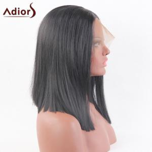 Adidas Medium Middle Part Straight Bob perruque synthétique en dentelle en dentelle -