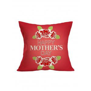 Mother's Day Flower Pillowcase - Red - 43*43cm
