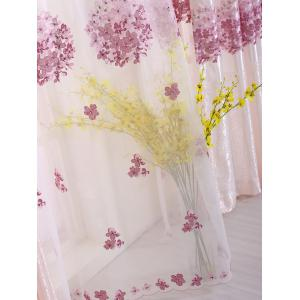 Princess Hydrangea Print Sheer Voile Curtain - PINK W42INCH*L63INCH
