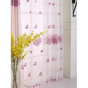 Princess Hydrangea Print Sheer Voile Curtain -