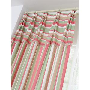 Stripe Blackout Curtain Window Shading Decor(Without Tulle) - RED W42INCH*L63INCH