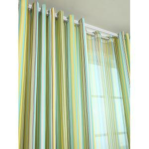 Stripe Blackout Curtain Window Shading Decor(Without Tulle) -