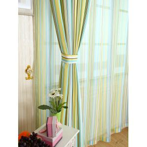 Stripe Blackout Curtain Window Shading Decor(Without Tulle) - YELLOW W54 INCH * L95 INCH