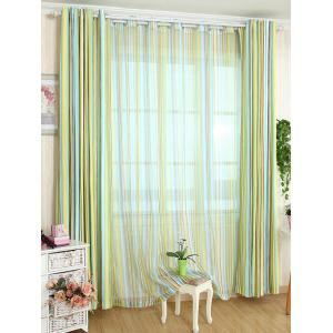 Stripe Blackout Curtain Window Shading Decor(Without Tulle) - Yellow - W54inch*l108inch