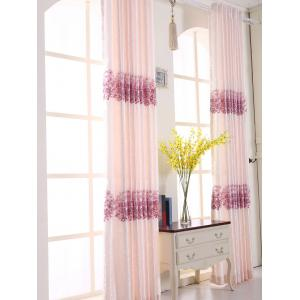1PCS Hydrangea Print Shade Blackout Curtain ( Without Tulle ) -
