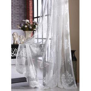 Floral Sheer Tulle Curtain Door Window Balcony Screen -