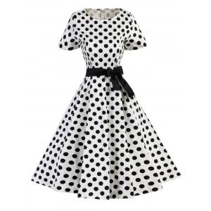 Polka Dot A Line Vintage Dress