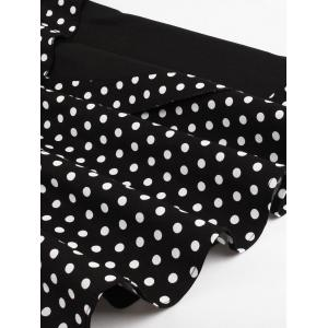 Cap Polka Dot Corset Vintage Dress - BLACK S