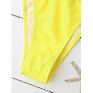 Sporty Letter Graphic Bandage Bikini - YELLOW AND BLACK S