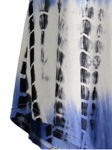 Hot Printed Asymmetric Long Tee - 2XL BLUE VIOLET Mobile